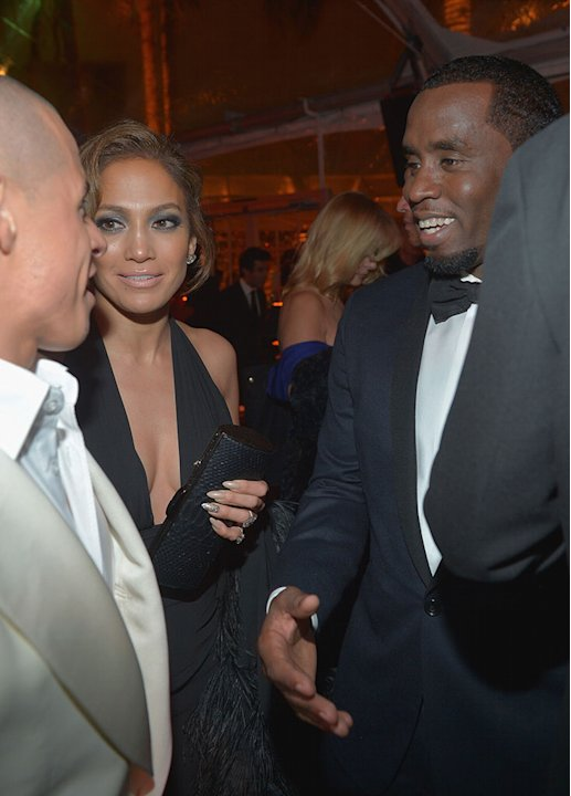 Chopard At The Weinstein Company's 2013 Golden Globe Awards After Party: Casper Smart, Jennifer Lopez and Sean Combs: Casper Smart, Jennifer Lopez and Sean Combs