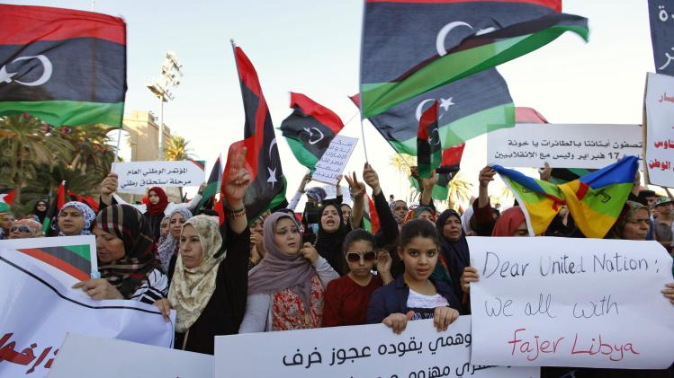 Supporters of Operation Dawn demonstrate in Tripoli