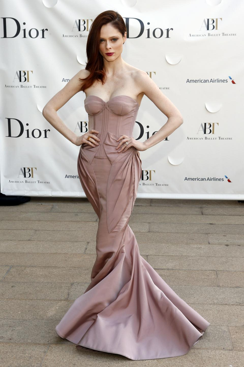 Model Coco Rocha arrives for the American Ballet Theatre Spring Gala at the Metropolitan Opera House, Monday, May 13, 2013 in New York. (Photo by Jason DeCrow/Invision/AP)