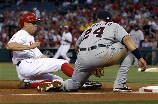 Angels slow their awful start, routing Detroit 8-1
