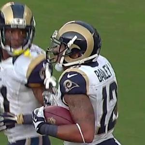 St. Louis Rams wide receiver Bailey 7-yard touchdown catch