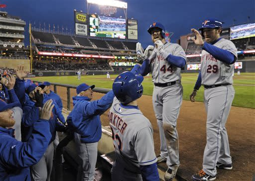 Buck's grand slam powers Mets past Twins 16-5