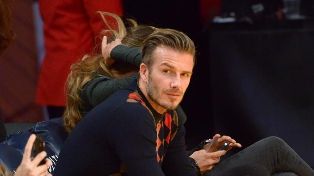 David Beckham attends a basketball game between the San Antonio Spurs and the Los Angeles Lakers at Staples Center on November 13, 2012 in Los Angeles -- Getty Premium