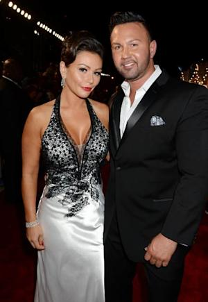 Jenni 'Jwoww' Farley and Roger Mathews attend the 2013 MTV Video Music Awards at the Barclays Center on August 25, 2013 in the Brooklyn borough of New York City -- Getty Images