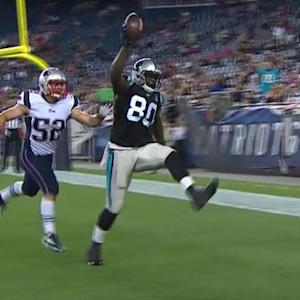 Carolina Panthers tight end D.C. Jefferson 3-yard TD reception
