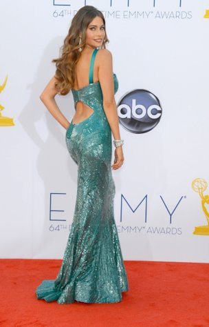 Sofia Vergara arrives at the 64th Annual Primetime Emmy Awards at Nokia Theatre L.A. Live in Los Angeles on September 23, 2012  -- Getty Images