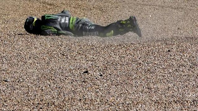 MotoGP Silverstone: Marquez, Crutchlow crash in warm-up