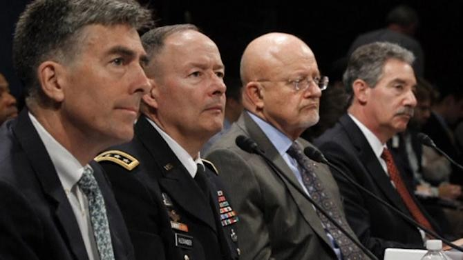 "Top U.S. intelligence chiefs call spying reports ""false"""