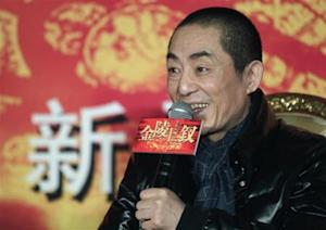 "Chinese director Zhang Yimou answers a question during a news conference for his new movie ""the 13 Women of Nanjing"" in Beijing"