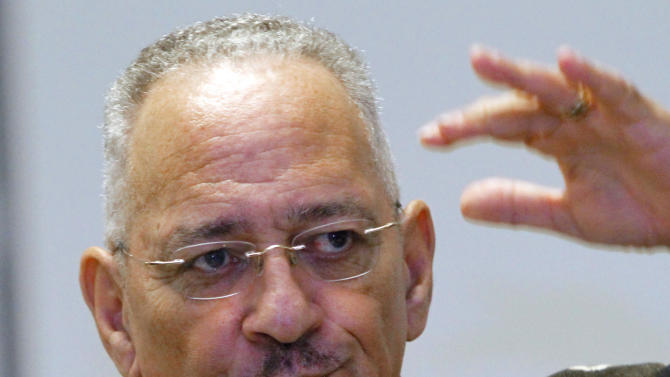FILE - In this March 25, 2012 file photo, Rev. Jeremiah Wright speaks in Jackson, Miss. A super PAC working to defeat President Barack Obama is preparing an ad campaign highlighting Obama's ties to his  former pastor. (AP Photo/Rogelio V. Solis, File)
