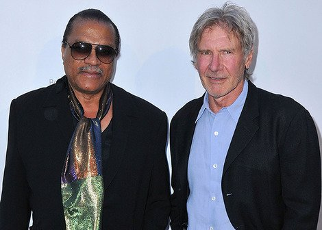 Billy Dee Williams and Harrison Ford