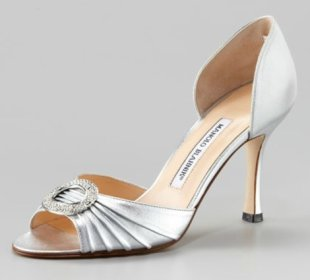 Designer shoes, like these Manolo Blahniks, are skyrocketing in price. Photo courtesy of Neiman Marcus