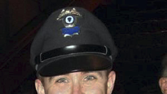 This undated photo provided by the Massachusetts Bay Transportation Authority shows transit police officer Richard Donohue, 33, who was critically injured in an early morning shootout Friday, April 19, 2013, with the two suspects in the Boston Marathon bombings. (AP Photo/Massachusetts Bay Transportation Authority)