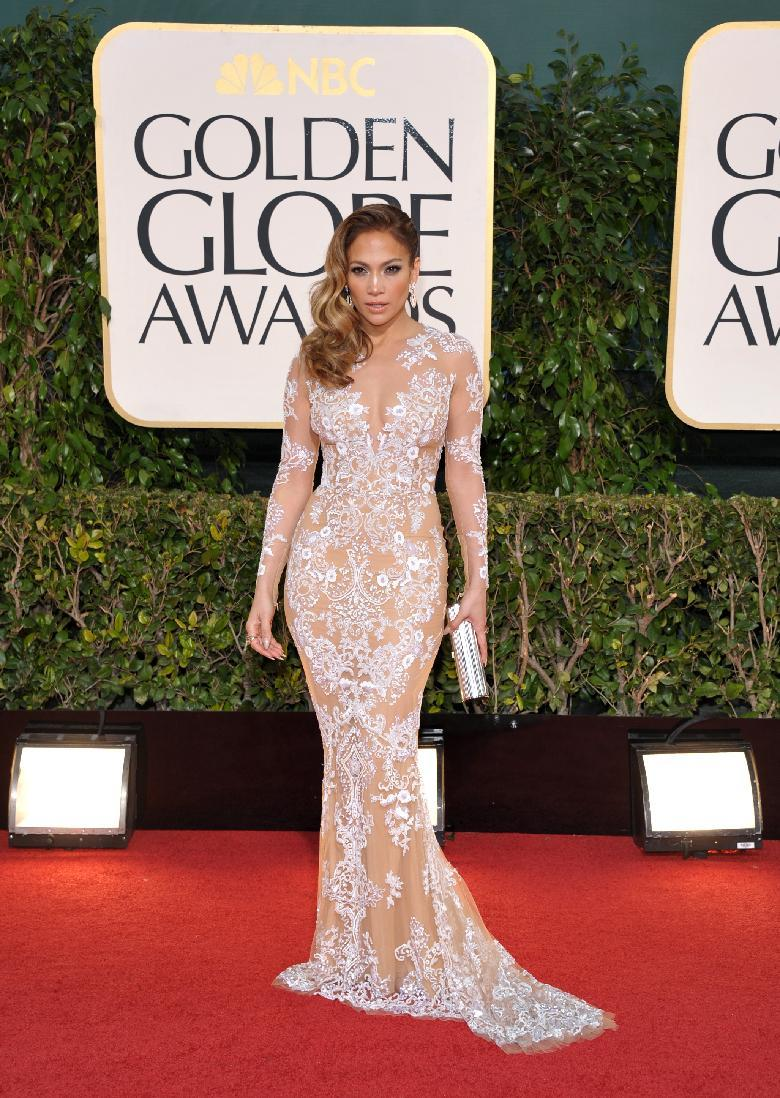 Actress/singer Jennifer Lopez arrives at the 70th Annual Golden Globe Awards at the Beverly Hilton Hotel on Sunday Jan. 13, 2013, in Beverly Hills, Calif. (Photo by John Shearer/Invision/AP)