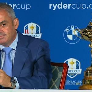 European Ryder Cup Captain Paul McGinley makes his picks