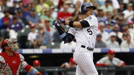 Chacin pitches into 9th, Rockies beat Phillies