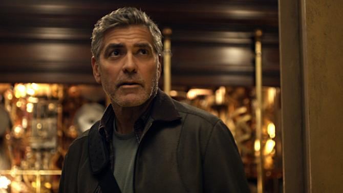 """This photo released by Disney shows, George Clooney, as Frank Walker, in a scene from Disney's """"Tomorrowland."""" The film releases in U.S. theaters May 22, 2015. (Film Frame/Disney via AP)"""
