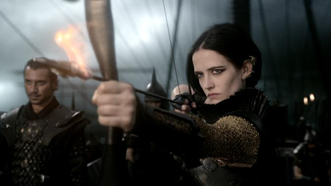 "This image released by Warner Bros. Pictures shows Eva Green in the film, ""300: Rise of an Empire."" (AP Photo/Warner Bros. Pictures)"