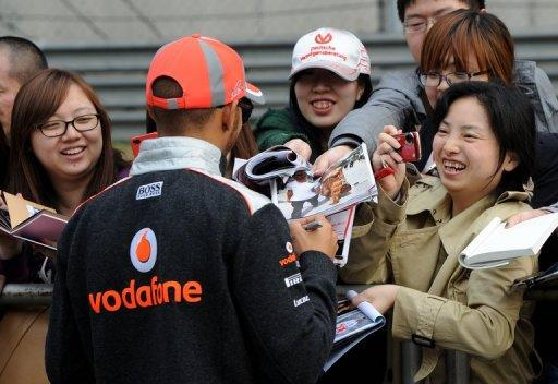 McLaren's Lewis Hamilton was fastest in first practice for the Chinese Grand Prix on Friday