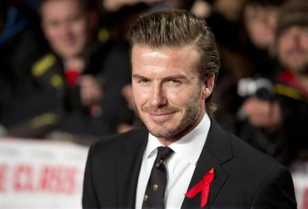 "Former England soccer captain David Beckham attends the world premier of the film ""The Class of 92"" in London"
