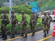 South Korean army soldiers stage a military drill to test defences against North Korea in Seoul on August 20. The US and South Korean militaries on Monday began a two-week exercise aimed at testing defences against the communist North