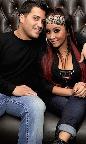 Snooki Polizzi with her man Jionni. (Jamie McCarthy/WireImage)