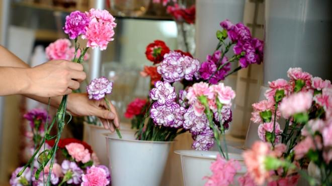 Fresh-cut Mother's Day flowers endure a long, cold journey by sea.