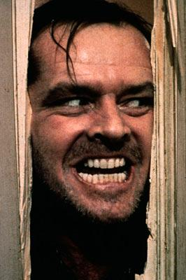 Jack Nicholson in Warner Brothers' The Shining