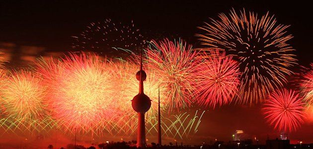 Kuwait fireworks