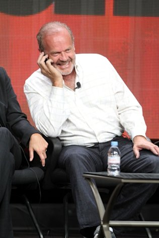 Kelsey Grammer speaks on a cell phone at the 'Boss' discussion panel during the Starz portion of the 2012 Summer Television Critics Association tour at the Beverly Hilton Hotel on August 2, 2012 -- Getty Images