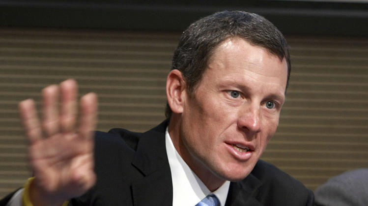 FILE - In this May 5, 2009 file photo, Lance Armstrong speaks during a press conference following a meeting with Italian Foreign Minister Franco Frattini, in Rome. Armstrong is facing a Wednesday, Feb. 20, 2013  deadline to decide whether he will meet with U.S. Anti-Doping Agency officials and talk with them under oath about what he knows about performance-enhancing drug use in cycling. The agency has said Armstrong's cooperation in its cleanup effort is the only path open to Armstrong if his lifetime ban from sports it to be reduced. (AP Photo/Sandro Pace, File)