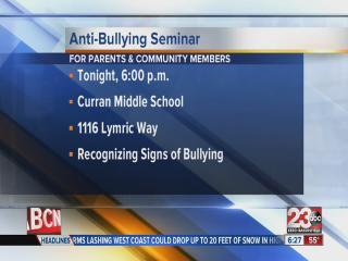 anti-bullying seminar