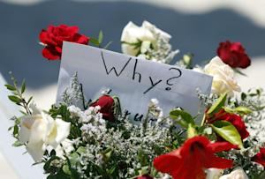 Flowers at the scene of the shooting in Sousse, Tunisia,…