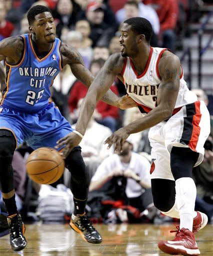 Durant has 33 and Thunder beat Blazers 87-83