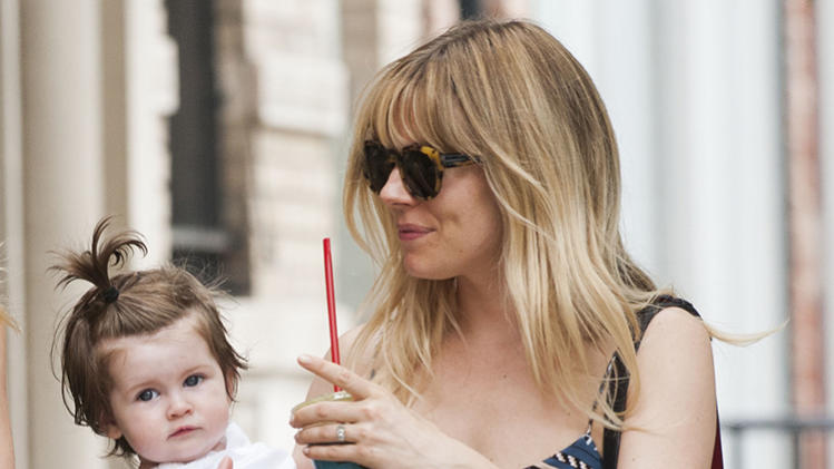 Sienna Miller and baby daughter Marlowe out and about in NYC