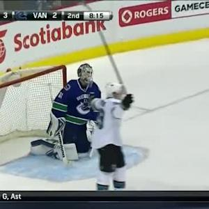 Matt Nieto Goal on Eddie Lack (11:45/2nd)