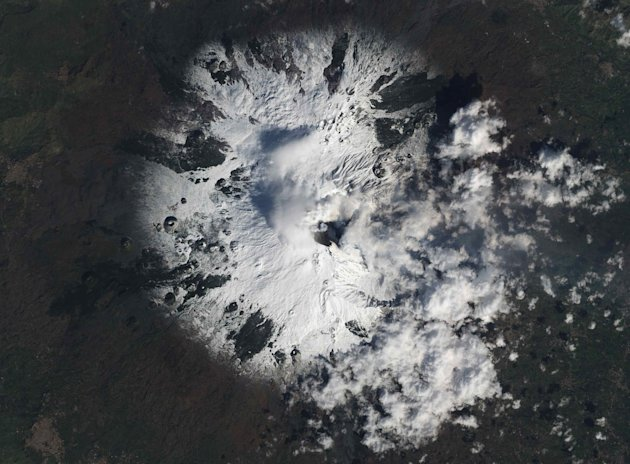 Italy's Etna Volcano is seen erupting in this NASA handout image