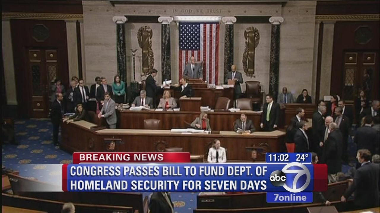 Congress OKs 1-week bill to keep Homeland Security open