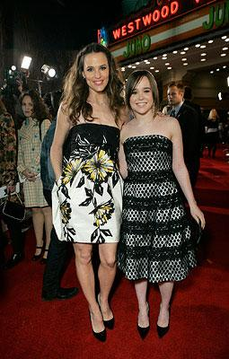 Jennifer Garner and Ellen Page at the Westwood premiere of Fox Searchlight's Juno