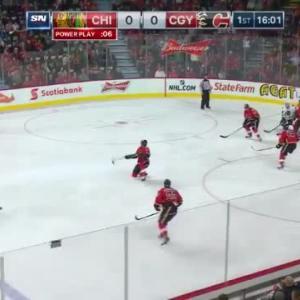 Adam Clendening Goal on Jonas Hiller (04:00/1st)