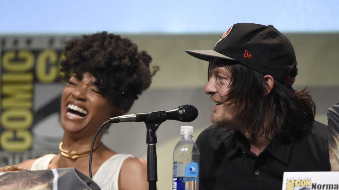 Photo of Sonequa Martin-Green & his friend  Norman Reedus