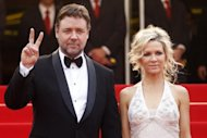 Hollywood star Russell Crowe and his wife Danielle Spencer at the 63rd Cannes Film Festival in 2010. Crowe and Spencer have split up, a report said on Monday, with speculation that the Oscar-winning actor could face a US$25 million settlement