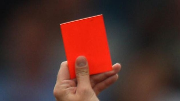 FOOTBALL Referee red card generic sending off