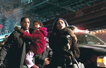 Will Smith , Willow Smith and Salli Richardson-Whitfield in Warner Bros. Pictures' I Am Legend