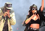 Surprise : Rihanna s&#39;invite sur scne avec son mentor Jay-Z