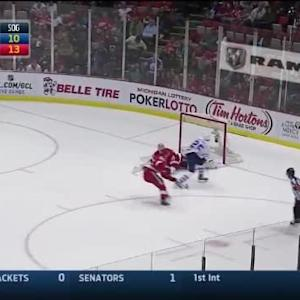 Jonas Gustavsson Save on Mike Santorelli (19:16/1st)