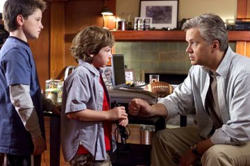 Josh Hutcherson , Jonah Bobo and Tim Robbins in Columbia Pictures' Zathura