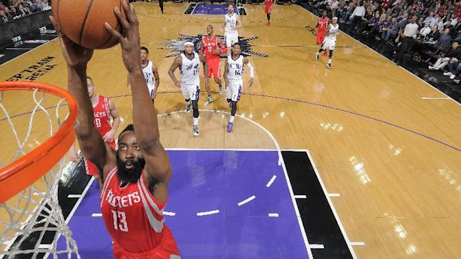 Harden scores 43, Rockets rout Kings 129-103
