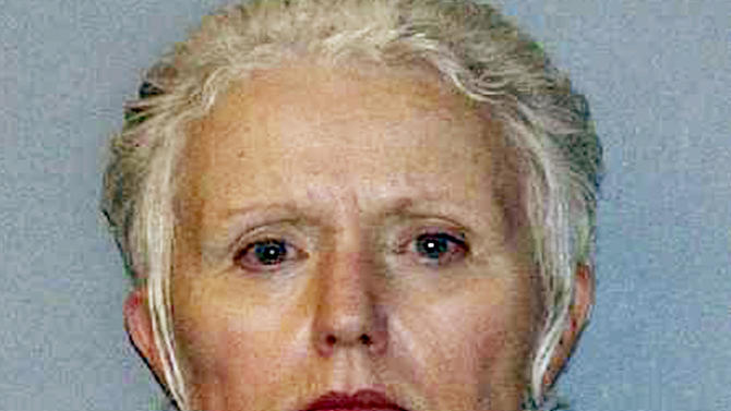 FILE - This undated file photo provided by the U.S. Marshals Service shows Catherine Greig, the longtime girlfriend of Whitey Bulger, who was captured with Bulger on June 22, 2011, in Santa Monica, Calif. Greig was sentenced to eight years in prison Tuesday, June 12, 2012, for helping to hide Bulger for 16 years. (AP Photo/U.S. Marshals Service, File)