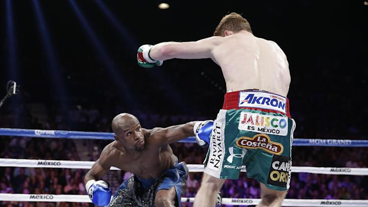 during a 152-pound title fight, Saturday, Sept. 14, 2013, in Las Vegas